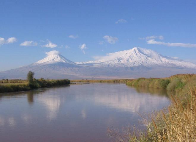 Река Аракс - правый приток Куры