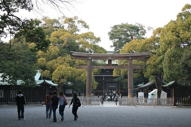 Тории храма Мэйдзи