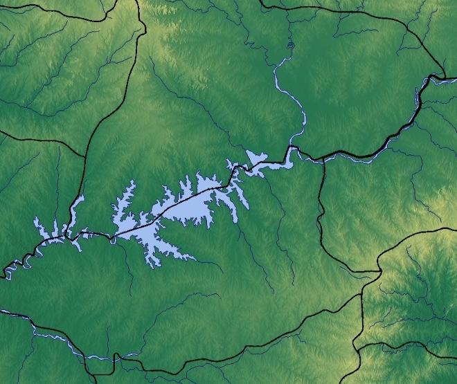 Водохранилище на карте