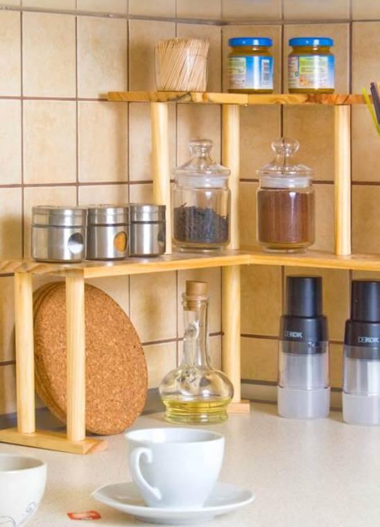 Что поставить на угловые полки на кухне пилястра кухня купить