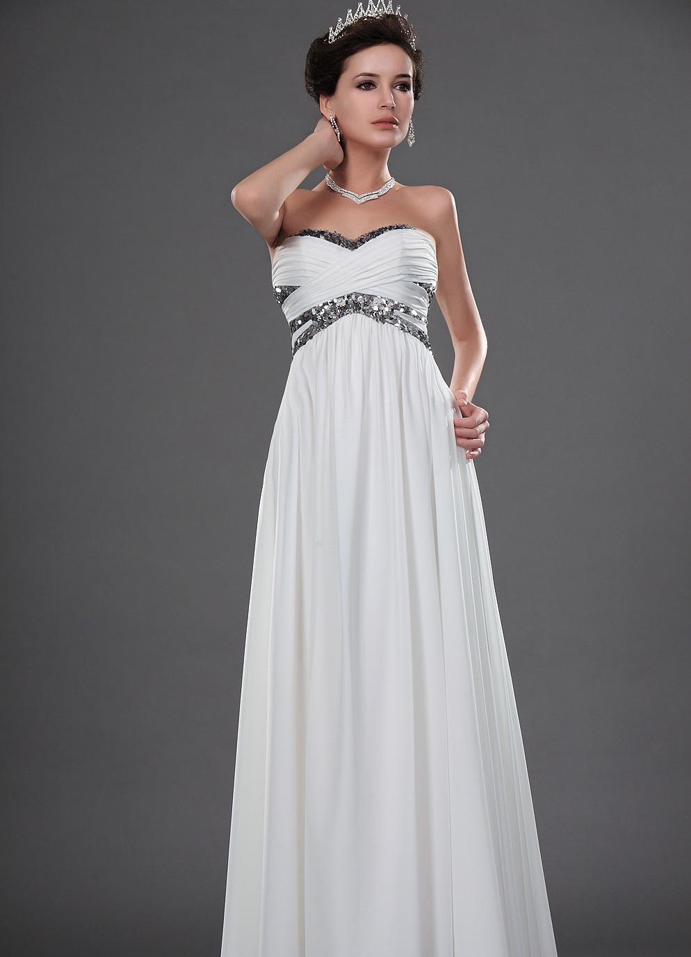 белые вечерние платья в пол фото
