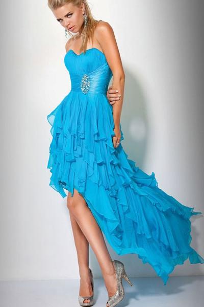 24ce1b85156 ... Вечернее голубое платье 3
