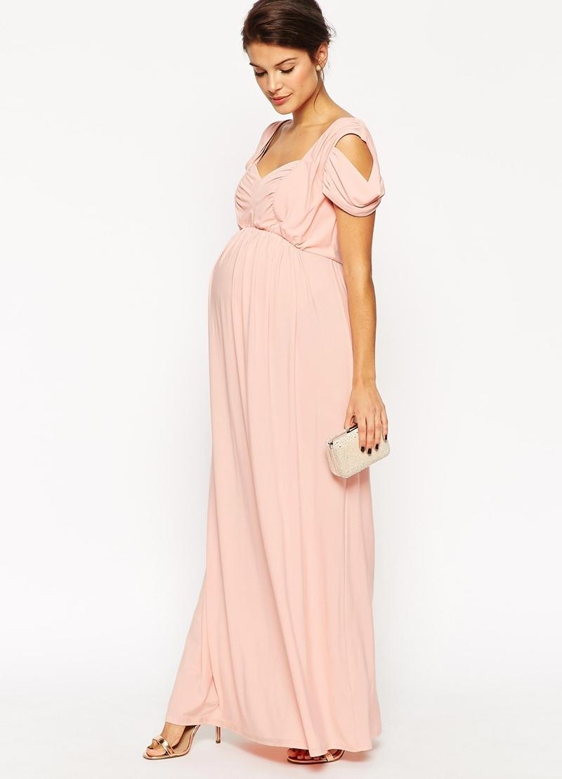 Вечерние платья на свадьбу: красивые и нежные фасоны для беременных