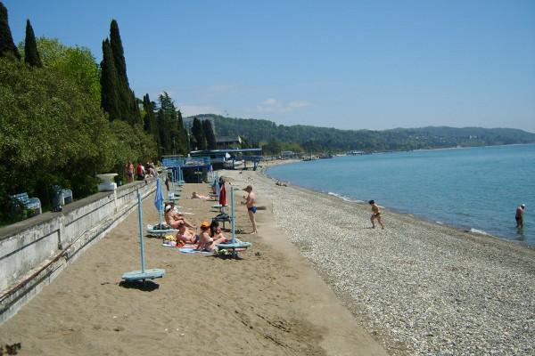 Лучшие и песчаные пляжи Абхазии, пляжный отдых в Гаграх, Пицунда, Сухуми 66