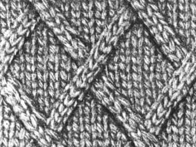 Вязание ромбиков на спицах 385