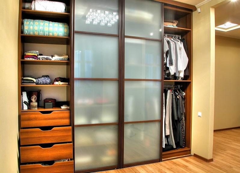 шкаф-купе внутреннее наполнение фото в спальню