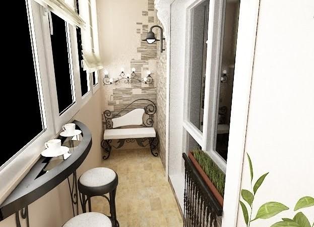 фото внутренняя отделка балкона
