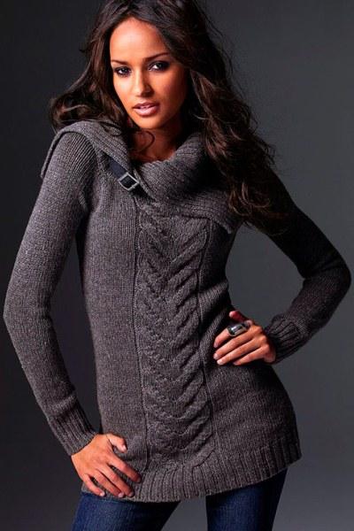 вязаные свитера для девушек