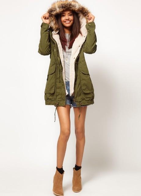 ... женская зимняя куртка парка 3 53e6a9034ef