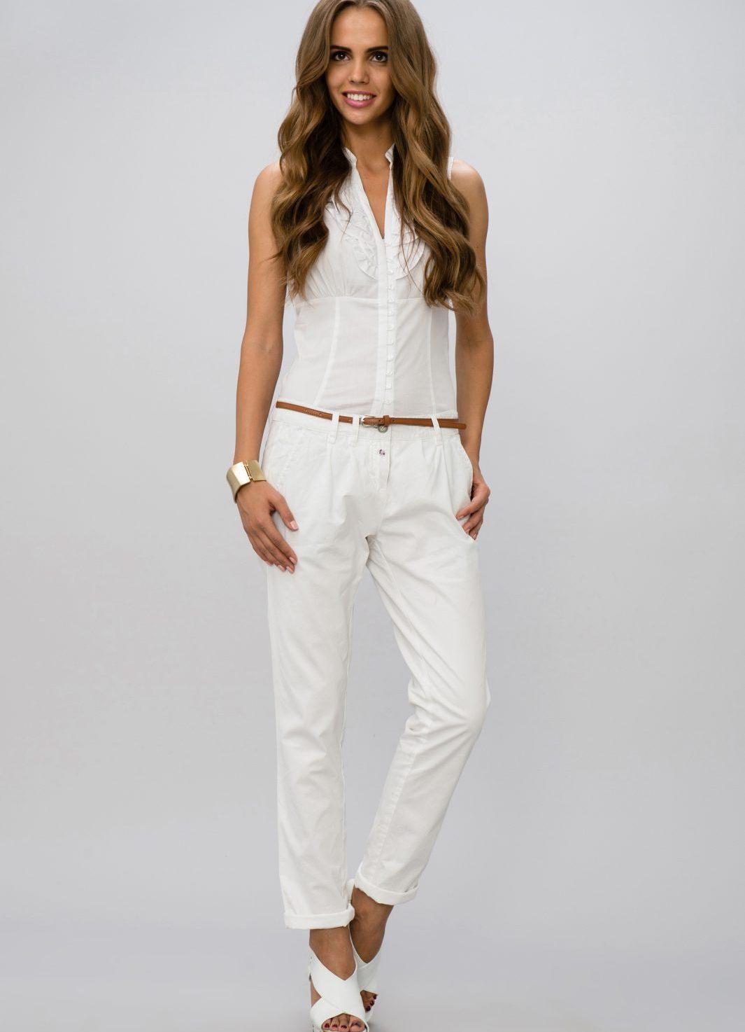 брюки женские белые фото