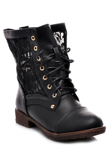 5d8d7903 Женские высокие ботинки на шнуровке