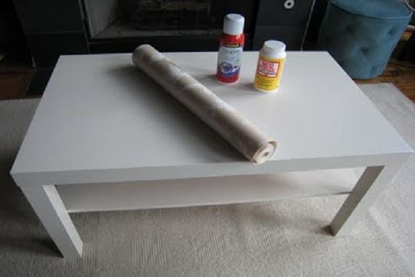 Обновляем старый журнальный столик своими руками