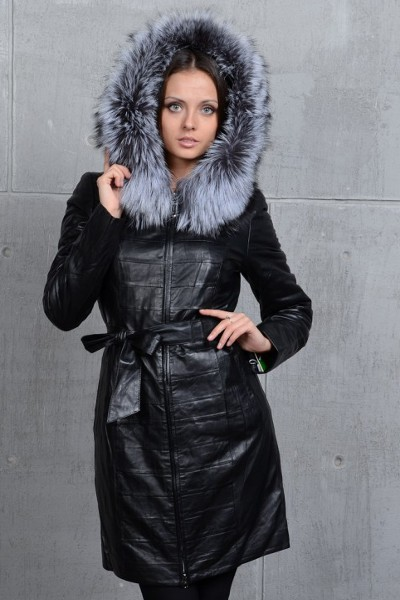 258aad9493e Кожаное зимнее пальто 4 · Кожаное зимнее пальто 5 ...