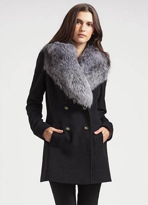 фото зимнее пальто с мехом