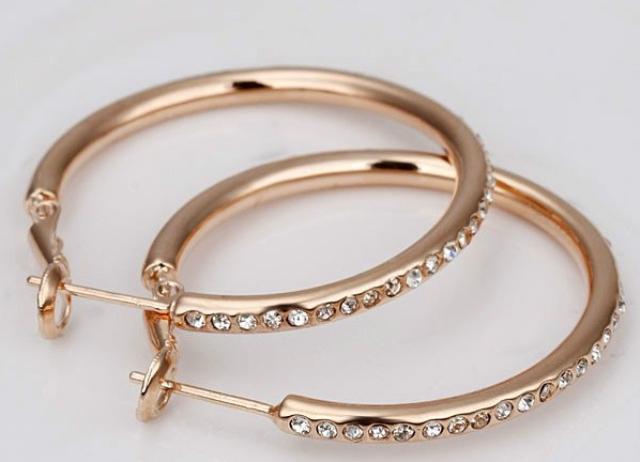 сережки золотые кольца фото
